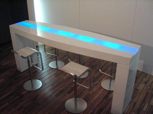 tresen licht plexiglas acrylglas