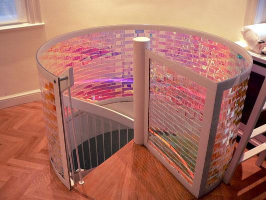 treppengeländer treppenverkleidung plexiglas acrylglas