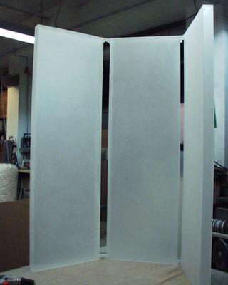 paravent sichtschutz plexiglas acrylglas