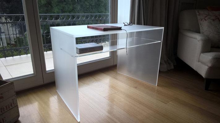 schreibtisch plexiglas acrylglas möbel