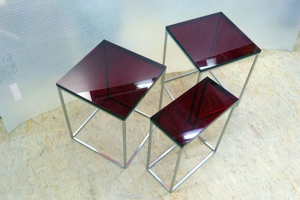 couchtisch plexiglas acrylglas farbig möbel