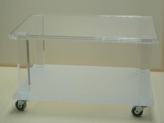 rollwagen teewagen plexiglas acrylglas