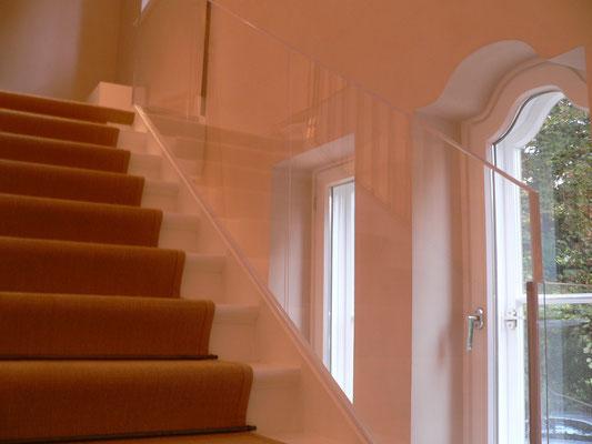 treppengeländer plexiglas acrylglas