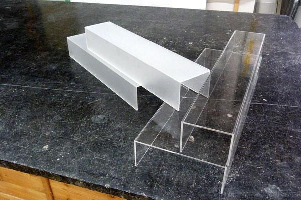 podest mattiert poliert acrylglas