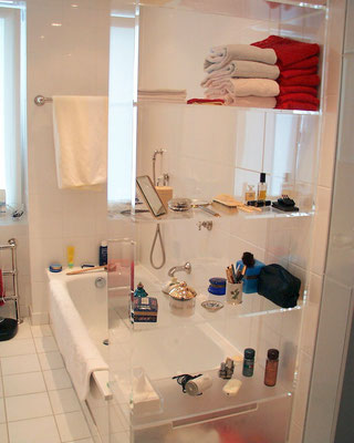 regal plexiglas acrylglas badezimmer möbel