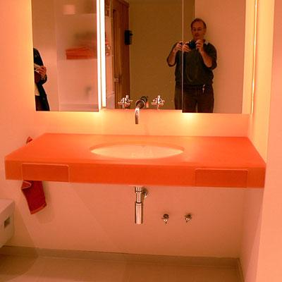 waschtisch badezimmer plexiglas acrylglas