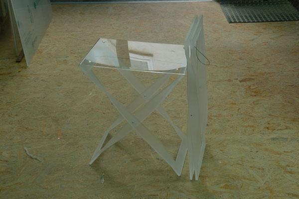 tablett gestell plexiglas acrylglas möbel