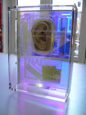 award plexiglas gravur