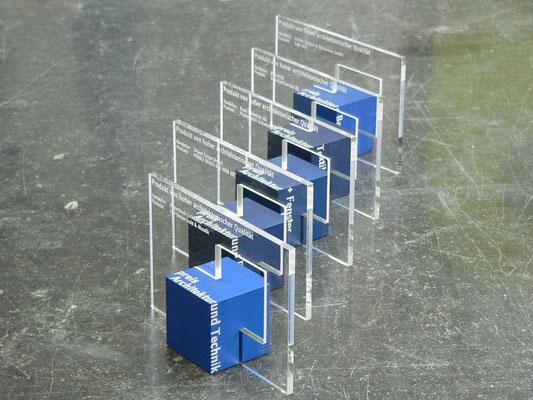 pokal award aluminium acrylglas gravur