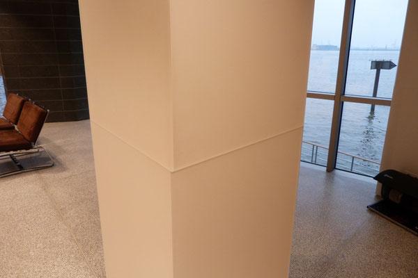 empfang empfangsbereich plexiglassäule acrylglas