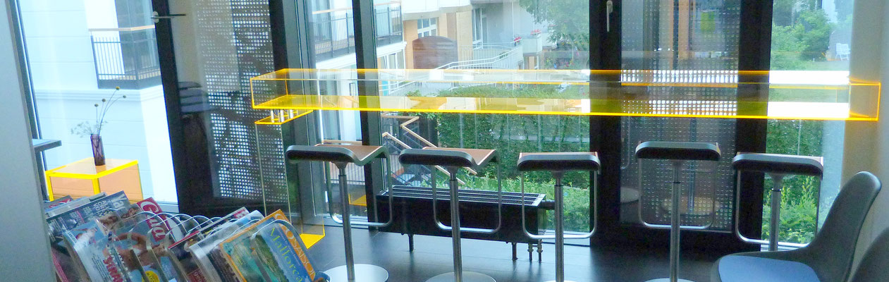 tresen arztpraxis wartebereich plexiglas acrylglas