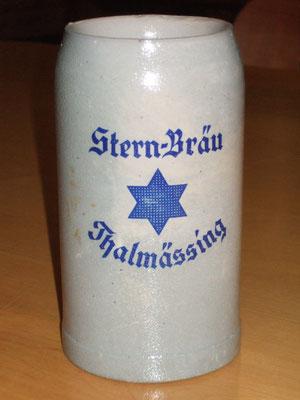 Brauereikrug der Brauerei Stern in Thalmässing, ca. 1960