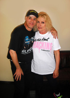 """De vrouw der vrouwen en mijn rolemodel for """"keep on going""""  Debbie Harry (Blondie)  , ik denk 2014 na een lange avond Rock&Roll"""