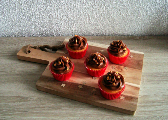 Vanille cupcakes met chocolade