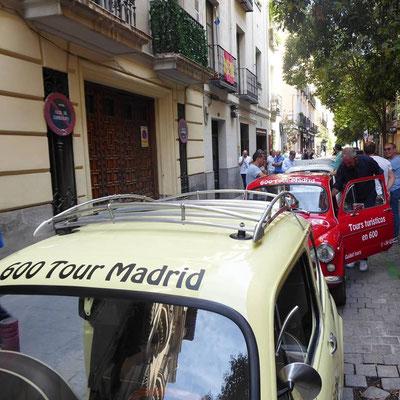 tour turistico coche clasico seat 600