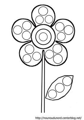 Coloriage Fleur Tps.Les Couleurs Maicresse La Classe Des Touts Petits Tps