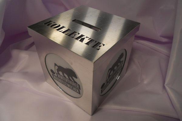 Kollekte Boxen für die Musik Fest Wochen Winterthur. Konzept und Realisation Nolina applica GmbH