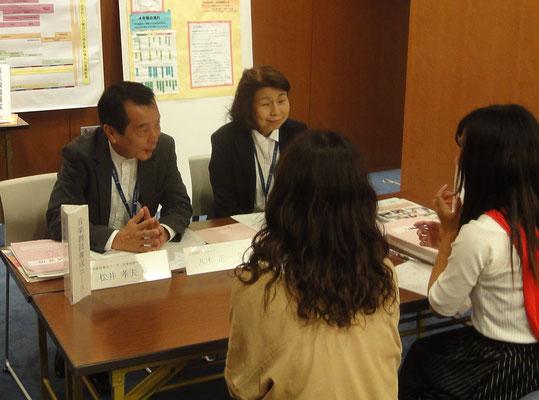 音楽脅威に養成コースンの八木正一先生(音楽総合学科長)と木村満壽美先生