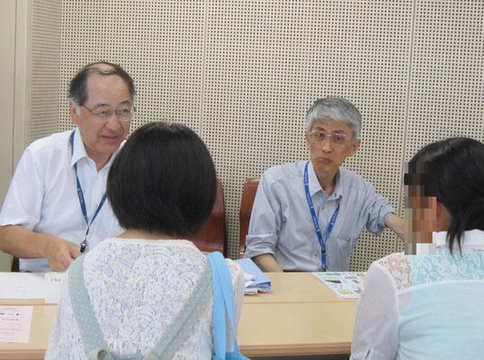 音楽療法コース:原沢康明先生(音楽総合学科長)と郡司正樹先生