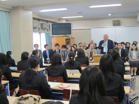 音楽学部長の高橋大海先生からお話がありました。