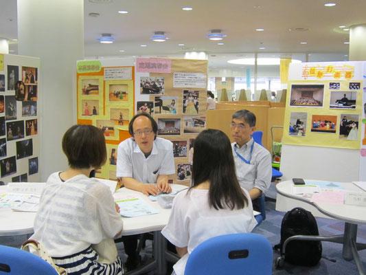 中村克己先生(左:クラリネット)と山本真先生(右:ホルン)