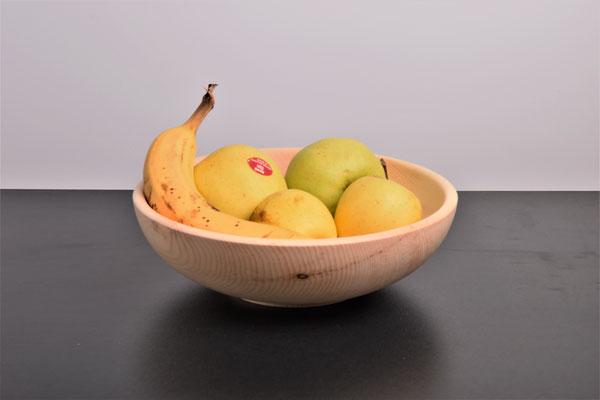 Zirbenschale mit Obst