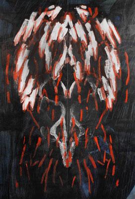 symmetrie 5, 100 x 150 cm, Öl, Acryl auf Papier