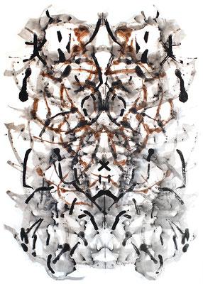 symmetrie 1, 110 x 150 cm, Acryl auf Papier