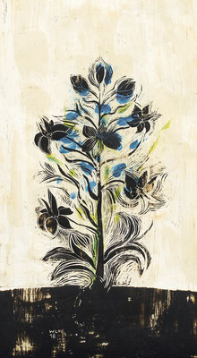 insection 12, 2018, 35 x 65 cm, verschiedene Wachse auf Papier