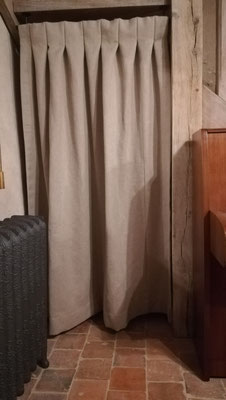 Rideaux pendenrie -plis creux - lin de France