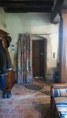 Rideaux de portes - doublure isolante - plis creux - Etoffe Jean-Paul Gaultier