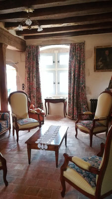 Rideaux fenêtres à meneaux- doublure isolante - plis creux - Etoffe Jean-Paul Gaultier