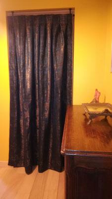 rideaux porte comble doublure isolante - plis creux - Etoffe Lelièvre