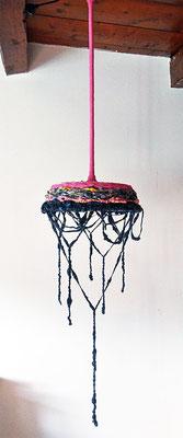 Textile luminaire - Vegan Art - Sylvie Martin Rodriguez