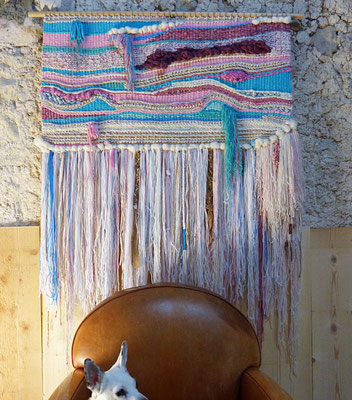 Tissage mural - Wall hanging weaving - Alchimagic