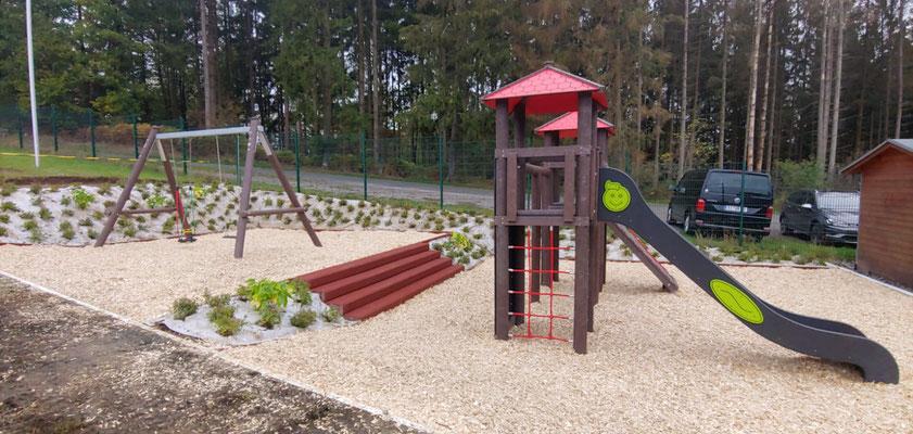 Spielplatz fertig 16. Oktober 2020