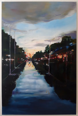 Liquid Sky, 2019, Öl auf LW., 120 x 80 cm