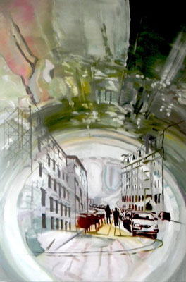 W. Bohns: Liquid Room Nr.18, 2011, Öl / Acryl auf Leinwand, 120 x 80 cm (Privatbesitz Berlin)