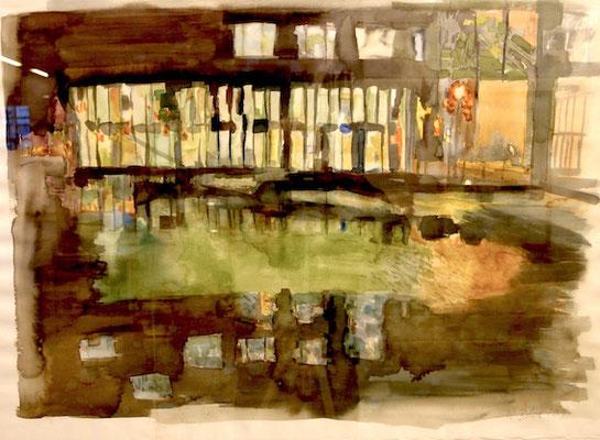 Spiegelung, 2008, Aquarell auf Bütten