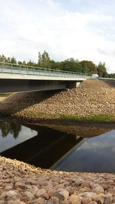 Utsatt bro över Lagan i Värnamo