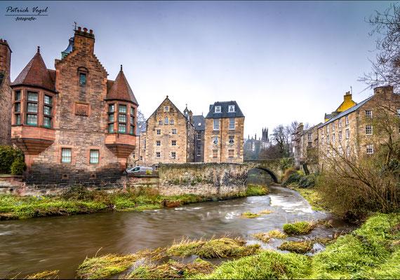 """""""Dean Village"""" im Zentrum von Edinburgh"""