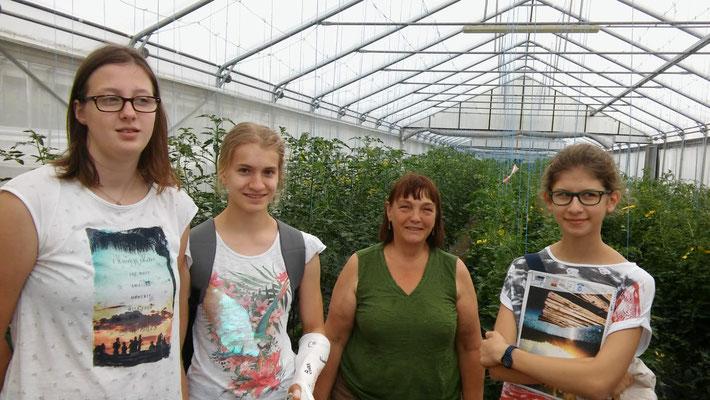 v.l.n.r.: Nadine Mayerhofer, Antonia Mostböck, Reinhild Frech-Emmelmann, Klara Wagenhofer