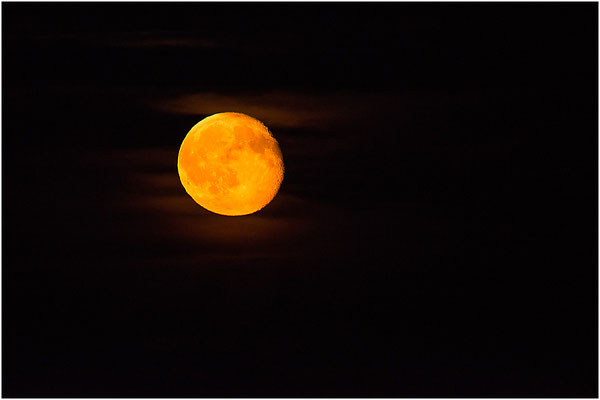 """Mond am 22.06.2016 - leider eine Nacht nach dem """"Erdbeermond"""". Nächste Chance im Jahr 2062!"""