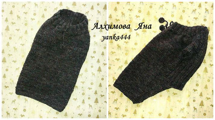 Очень теплый свитер для собаки. Размер XL. Объем груди 54-58 см. Длина свитера 37 см. Пряжа полушерсть. Акционная цена 280 грн.