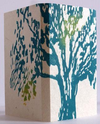 La maison des blés - couverture en xylographie sur papier de chanvre