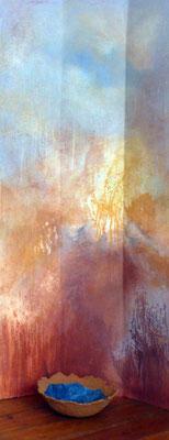 peinture de Kristine Delhay avec coupe de Yannick Charon
