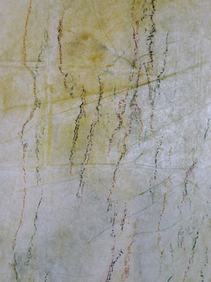 Lignes d'arbre - noyer détail - 2018 - pigments et pastels sur non-tissé - format 40 x 120 cm