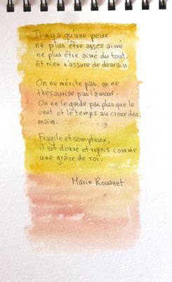 poème de Marie Rouanet écrit dans le vitrail