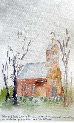 Eglise médiévale dans le Friesland