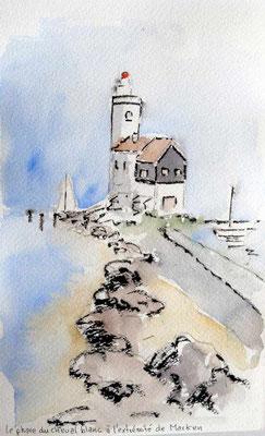 Phare du Cheval à la pointe de l'île de Marken